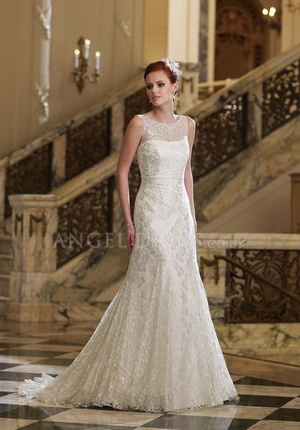 tall bridal gown