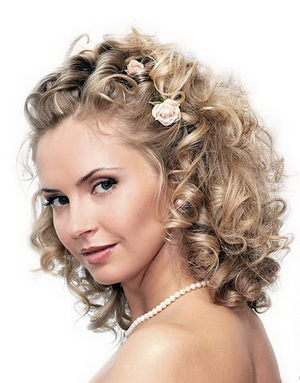 bridal hairstyle - curls