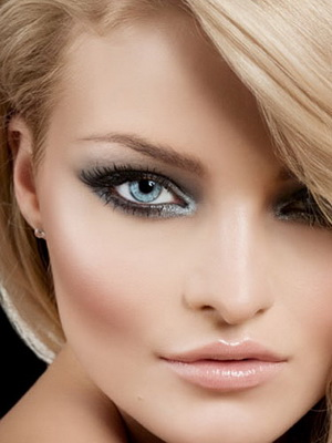 bridal makeup white eyeliner