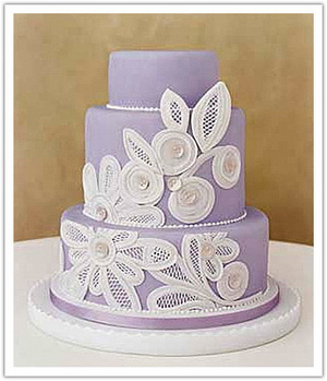 cloth wedding cake