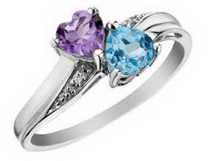 colorful stones engagement rings