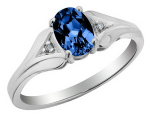 horizontal stone engagement ring