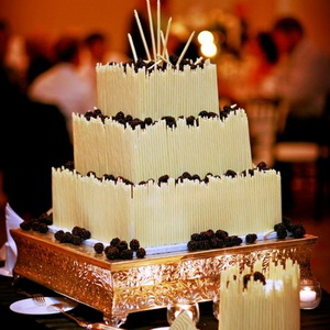 tall candles wedding cake