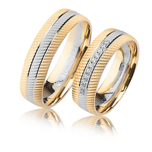 two shades wedding bands