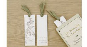 bookmark wedding invitations