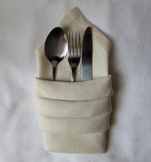 Napkin Folding For Utensils