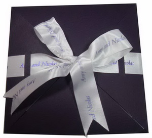 Personalized Ribbons For Wedding Invitations