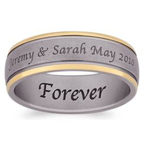Engraved Wedding Bands Names And Date